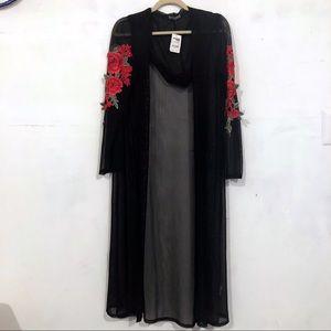 Long sleeve mesh black outer